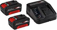 Аккумулятор 2 шт + Зарядное устройство Einhell X-Change 18 В Li-Ion 3,0 Ач