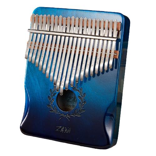 Калимба Zani музыкальный инструмент на 21 язычок (премиум качество) - Синий