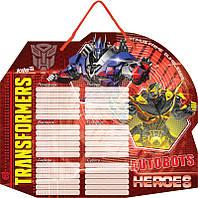 Доска с расписанием уроков + маркер, Transformers, Kite