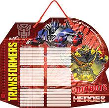 Дошка з розкладом уроків + маркер, Transformers, Kite