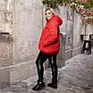 Куртка на искусственной овчине с капюшоном короткая плащевка 48-50,52-54,56-58,60-62, фото 5