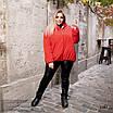 Куртка на искусственной овчине с капюшоном короткая плащевка 48-50,52-54,56-58,60-62, фото 6