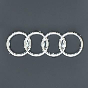 """Эмблема  """"Audi 80"""" задняя /пластик/скотч/хром 140х46мм"""