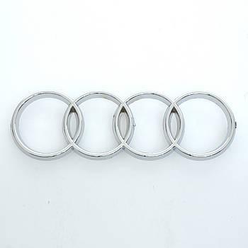"""Эмблема  """"Audi 80"""" перед /пластик/пукли/хром 255х85мм"""