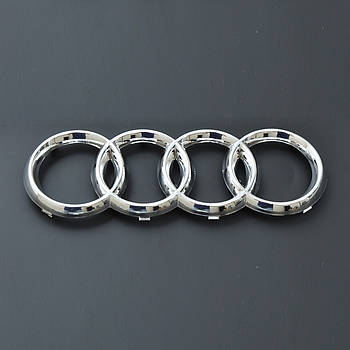 "Эмблема  ""Audi A4,A6"" перед /пластик/пукли/хром 273х94мм"