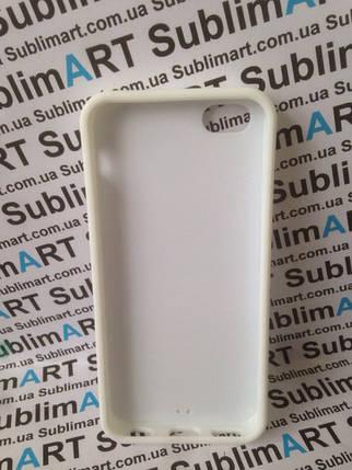 Чехол для 2D сублимации резиновый (TPU) Iphone 5C белый, фото 2
