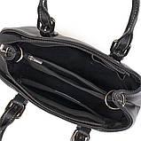 Класична жіноча сумка на шкірі флотар Vintage 14861 Чорна, фото 7