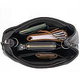 Класична жіноча сумка на шкірі флотар Vintage 14861 Чорна, фото 9