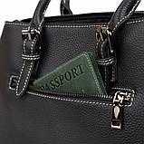 Класична жіноча сумка на шкірі флотар Vintage 14861 Чорна, фото 10