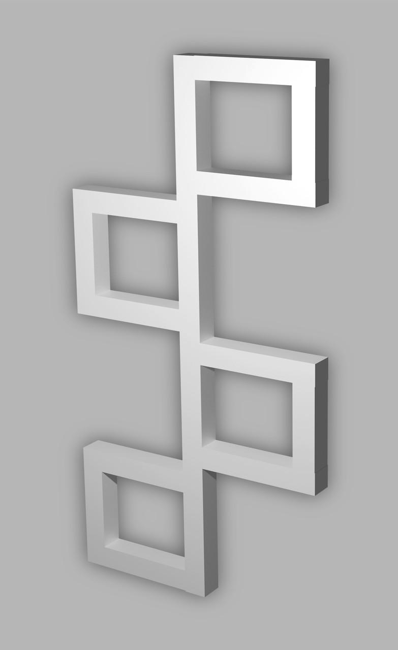 Полотенцесушитель Genesis-Aqua Fito 100x53 см, белый