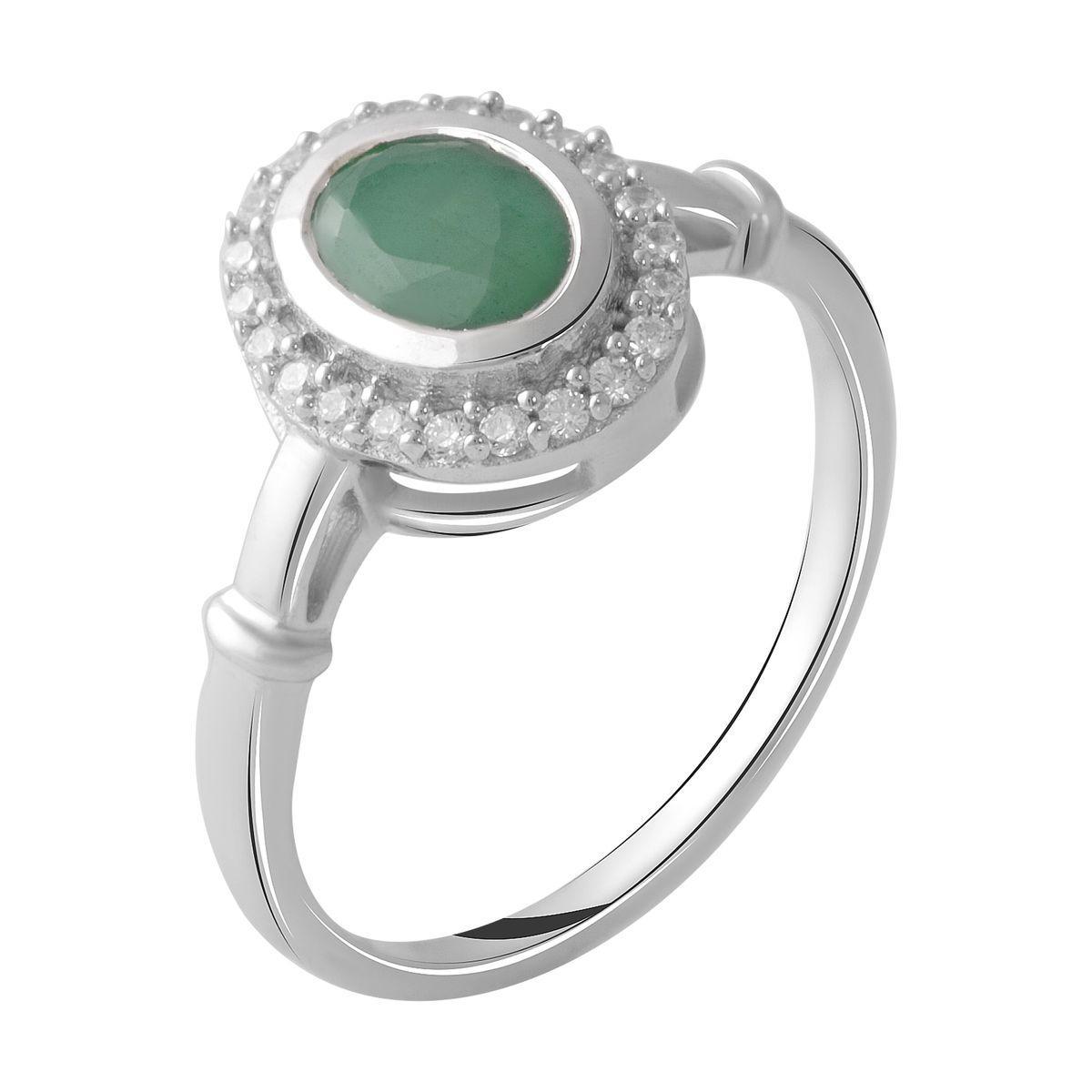 Серебряное кольцо DreamJewelry с натуральным изумрудом 1.093ct (2027492) 18 размер