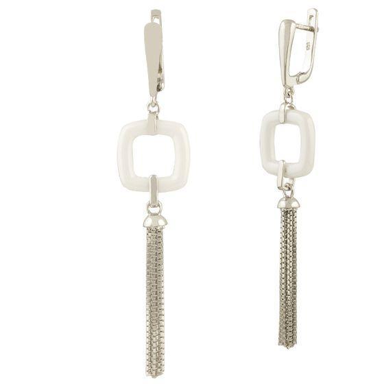 Серебряные серьги DreamJewelry с керамикой (1424698)