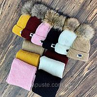"""Набір зимовий шапочка+шарф """"Nordland"""", кольори в асортимете (розмір універсальний з 9 міс), фото 1"""