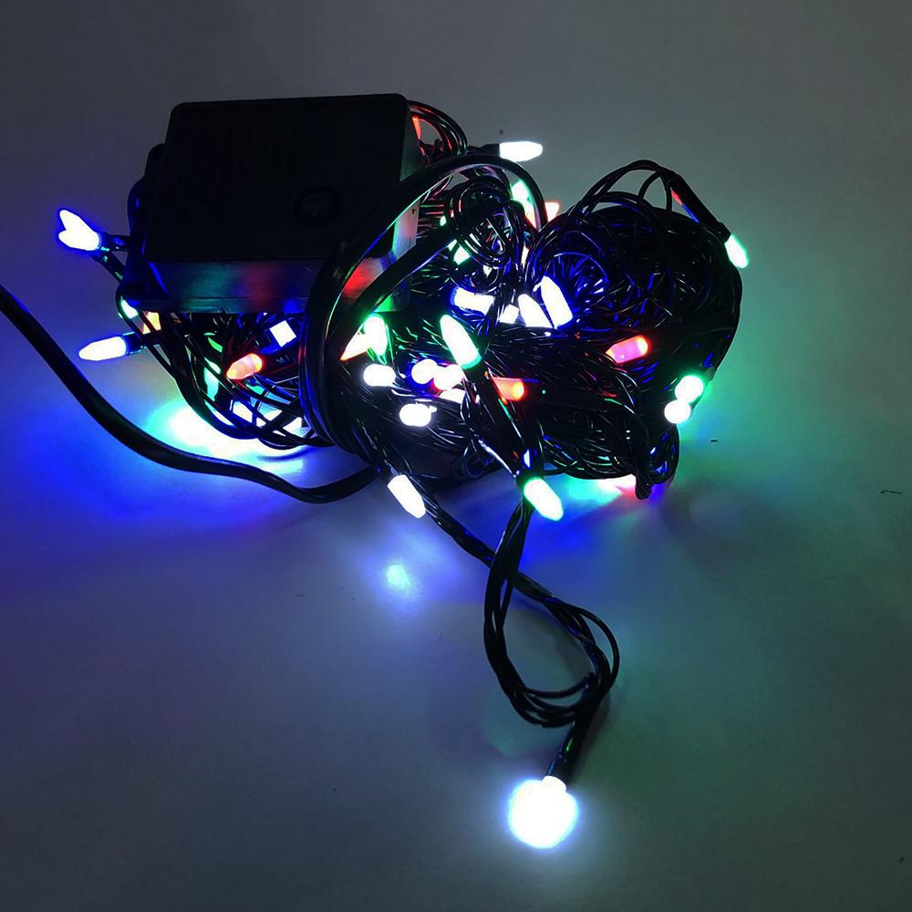 Гирлянда-нить String-Lights внутренняя разноцветная (пров.:черный; 7м) (100М-3)