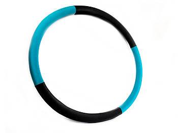 """Массажный Обруч """"Heavy Hoop"""" 1000 мм, вес 1,0 кг бирюзово-черный"""