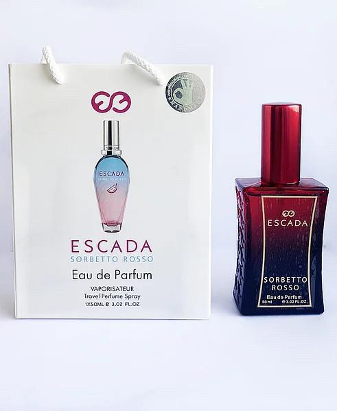 Женский мини парфюм Escada Sorbetto Rosso  в подарочной упаковке 50 мл.
