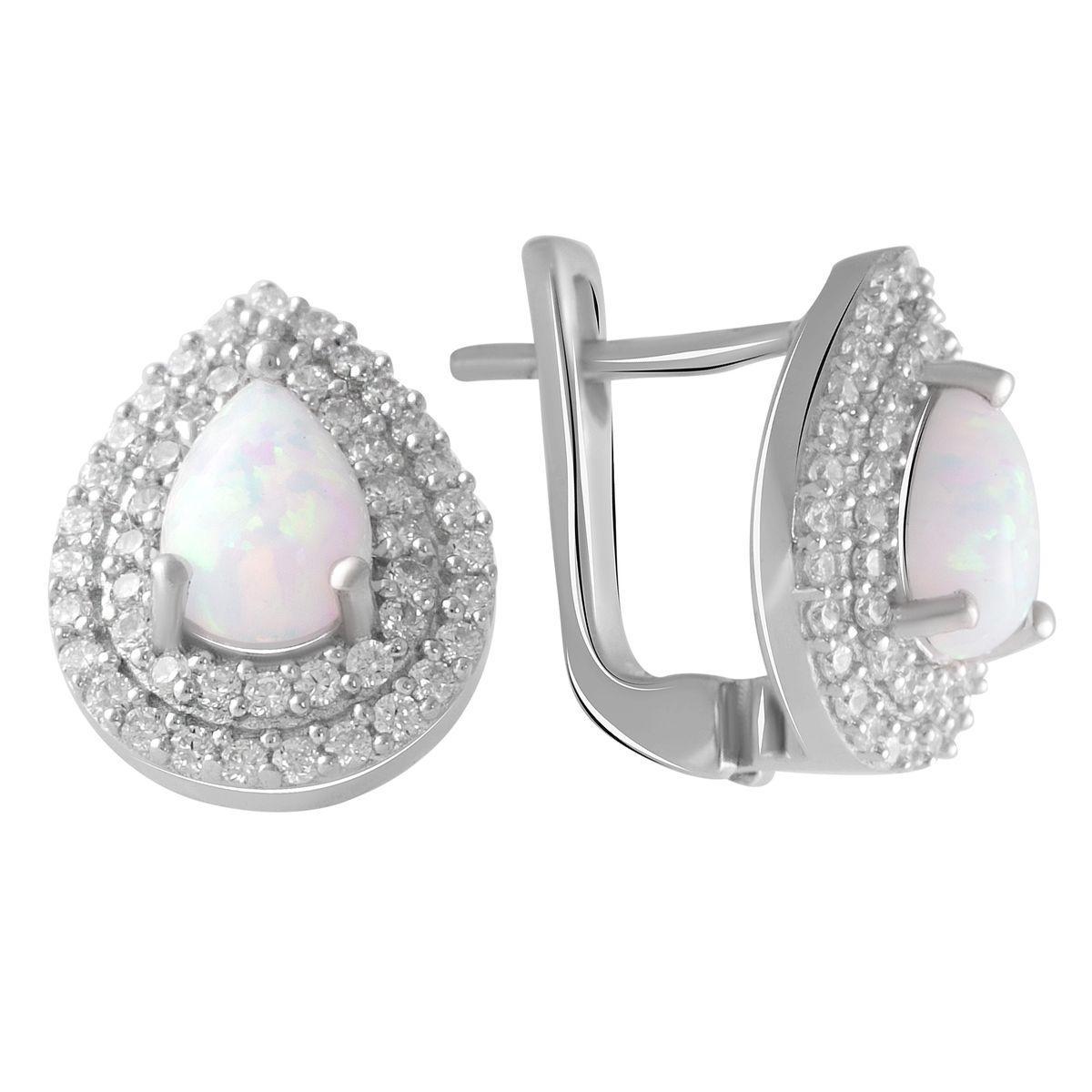 Срібні сережки DreamJewelry з опалом (2049913)