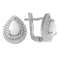Срібні сережки DreamJewelry з опалом (2049913), фото 1
