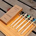 Набор бамбуковых зубных щеток 10 штук Разноцветный (hub_croq90245), фото 2