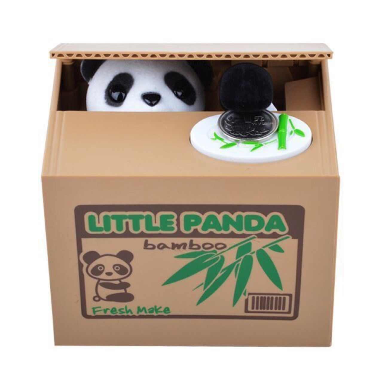 Скарбничка Панда-злодюжка Чорно-білий (hub_DlaK36960)