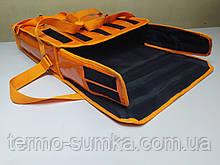 Термосумка для пиццы 45*45 на 2 коробки из ткани ПВХ. На липучках.
