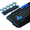 Беспроводная игровая клавиатура и мышь UKC HK-8100 Черный с синим (005761), фото 8