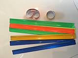 Браслет светоотражающий, 30 см (синий), комплект из 2 пар, фото 5