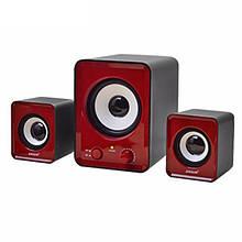 Колонки для компьютера 2.1 Mini IS-12 Red (006915)