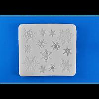 """Молд кондитерский силиконовый для мастики """"Снежинки"""""""