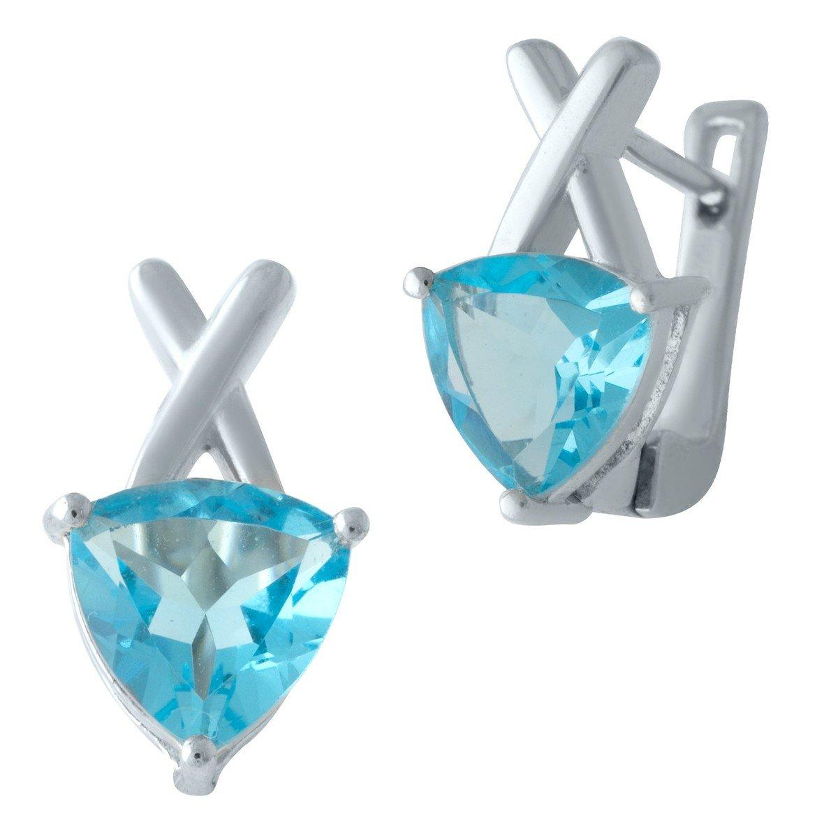 Серебряные серьги DreamJewelry с аквамарином nano (2011842)
