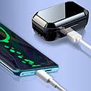 Беспроводная гарнитура KUMI T3S Black Bluetooth 5.0 влагозащищенная сенсорная с зарядным кейсом (3564-9948), фото 5