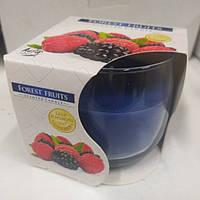 Свеча ароматизированная в стекле Bispol 71-08 Лесные ягоды, 7 см