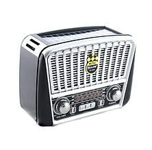 Радио портативная колонка MP3 USB с солнечной панелью Golon RX-456S Solar Black-Grey (008262)