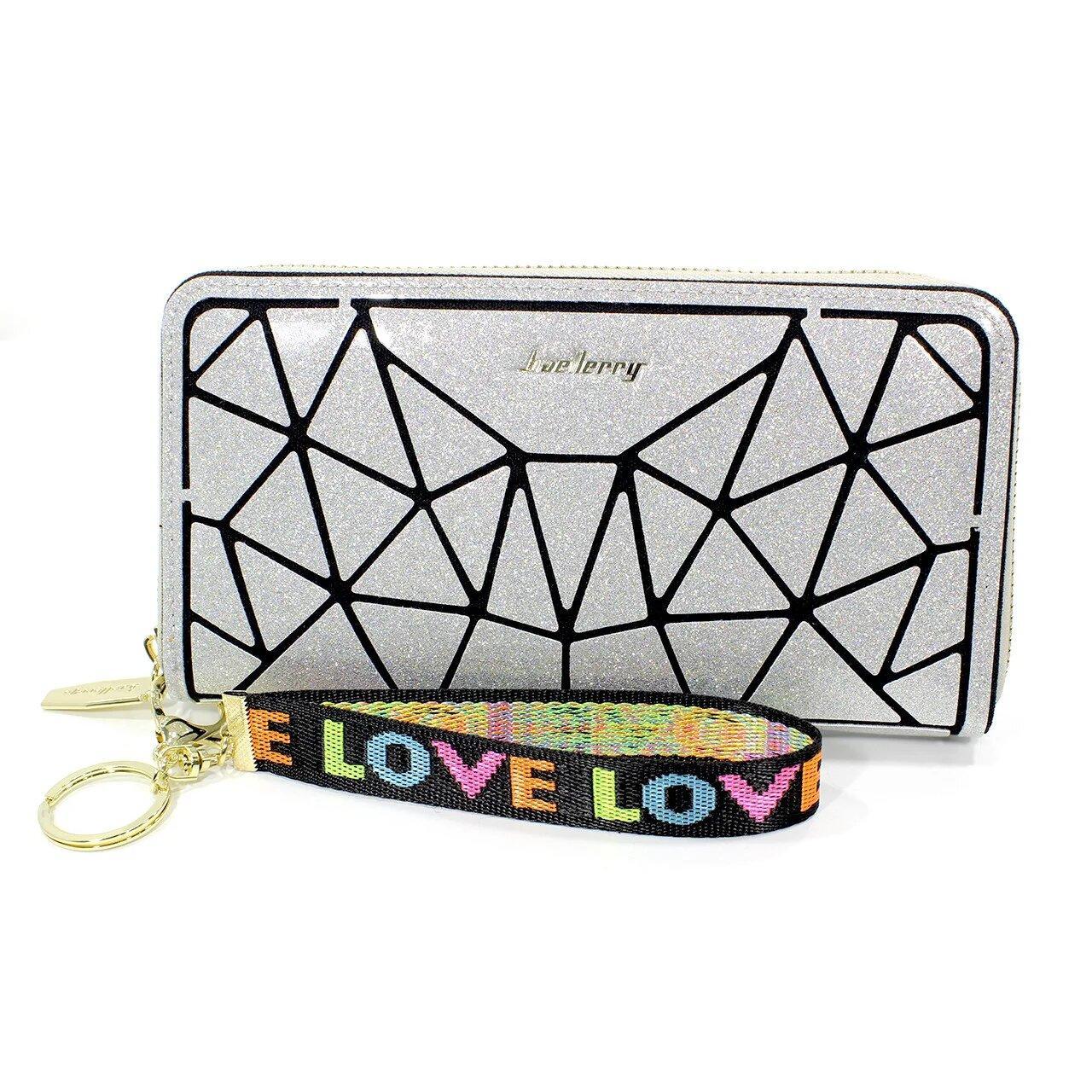 Жіночий гаманець-клатч Baellerry N2823 Сріблястий (4196-11940)