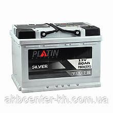 Автомобильный аккумулятор PLATIN Silver MF 6CT 80Aз 780A R