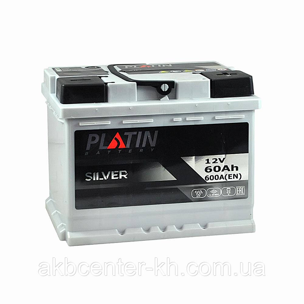Автомобильный аккумулятор PLATIN Silver MF 6CT 60Aз 600A R