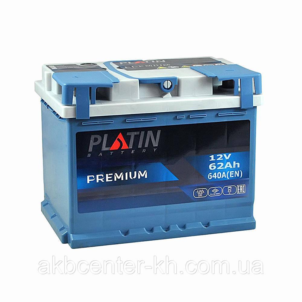 Автомобильный аккумулятор PLATIN Premium MF 6CT 62Aз 640A L