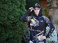 Летний костюм для рыбалки FanFish Fisherman Black, солнцезащитный, дышащий