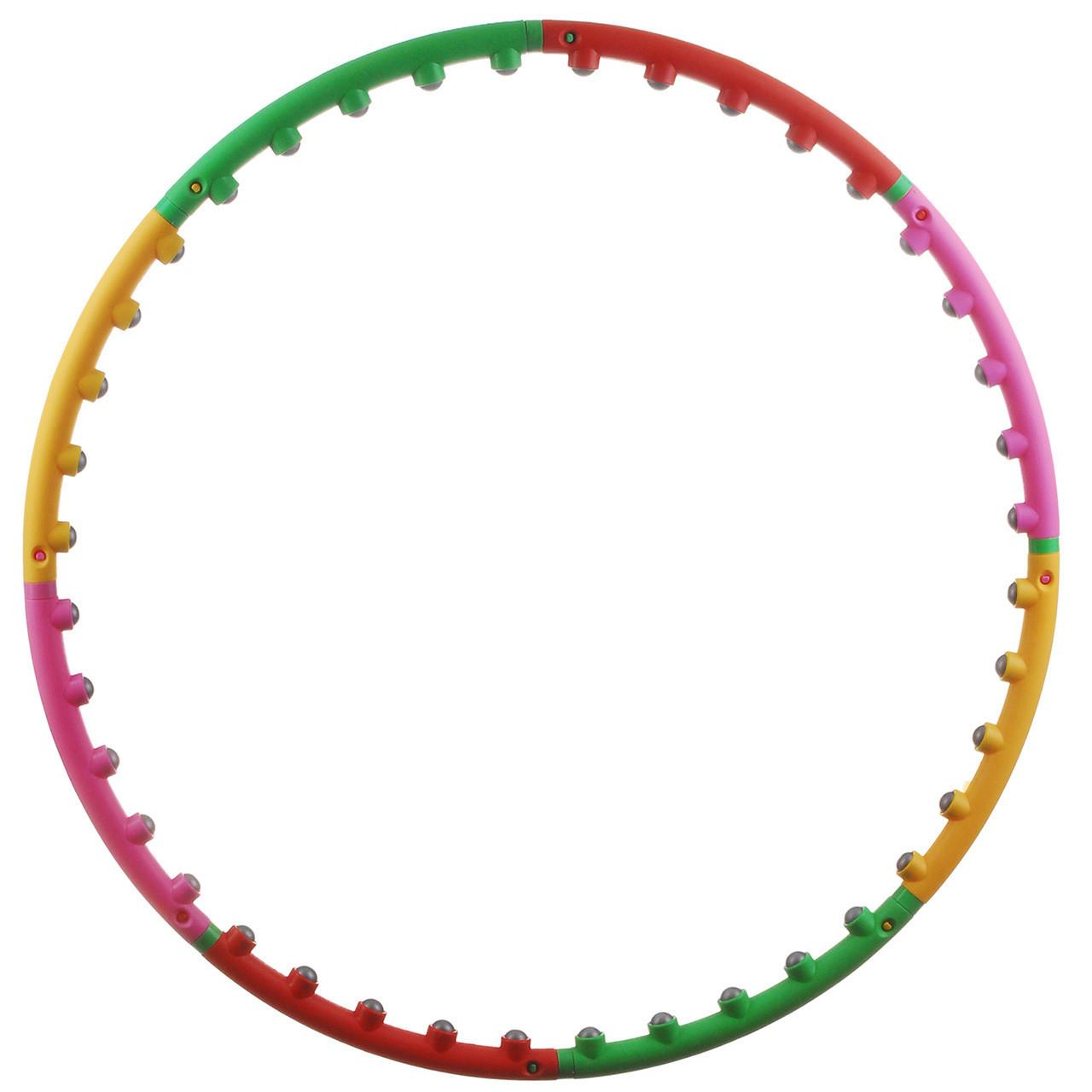 Хулахуп обруч масажний Спартак М-0251 Hula Hoop 8 секцій Різнобарвний (001427)