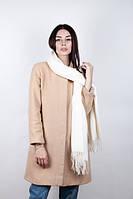 Белый кашемировый шарф для стильных девушек