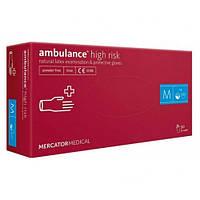 Перчатки медицинские AМBULANCE (M) (25пар/уп)