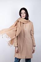 Бежевый женский шарф с кашемира