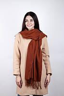 Практичный коричневый женский шарф