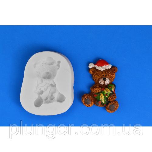 """Молд кондитерский силиконовый для мастики """"Мишка с елкой"""""""