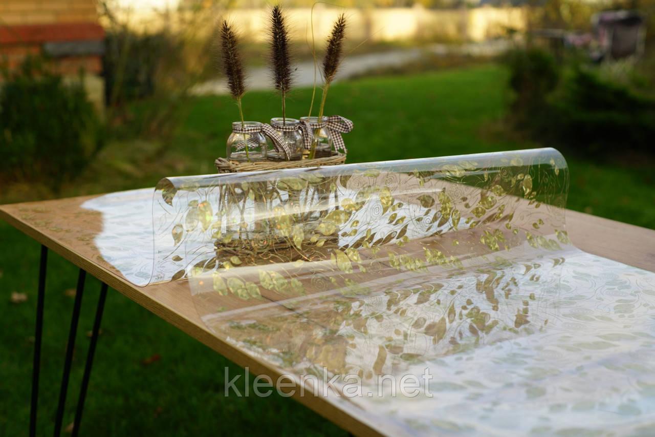 Прозрачное Мягкое стекло с лазерным рисунком, ширина 60 см