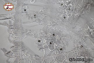 Свадебный платок со стразами Люси, фото 2