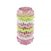 Игрушка кость для чистки зубов у собак CHEW TOY 17T Pink M (5290-18072)