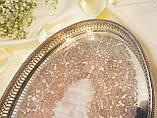 Старый посеребренный поднос на ножках, серебрение по меди, Англия, The Silver Workshop, фото 4