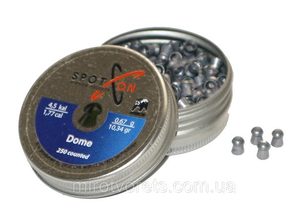 Кулі пневматичні Spoton Dome, 4.5 мм, 0.67 гр, 250 шт., фото 2