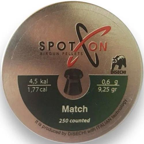 Пули пневматические Spoton Match, 4.5мм., 0.60гр., 250 шт.